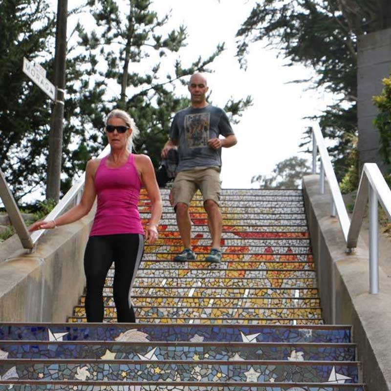 SF Tiled Steps